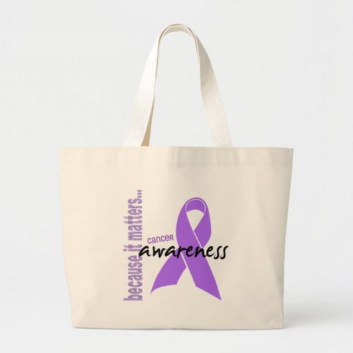 Cancer Awareness Canvas Bags