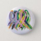 Cancer Awareness Ribbons 6 Cm Round Badge