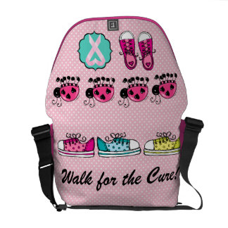 Cancer Awareness - Walk For the Cure Messenger Bags