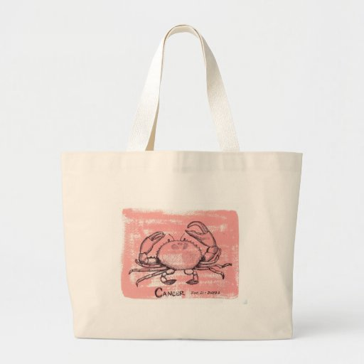 Cancer Crab Tote Bag
