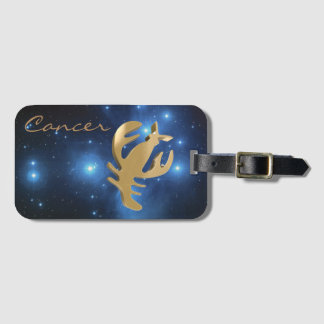 Cancer golden sign luggage tag