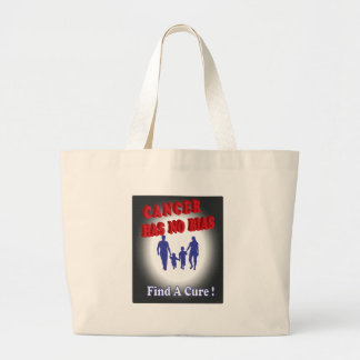Cancer-Has-No-Bias.png Large Tote Bag