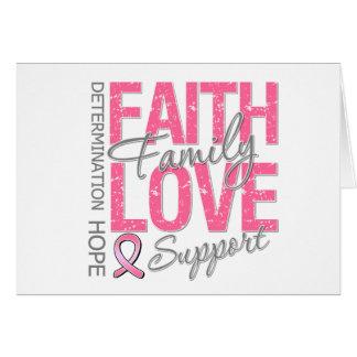 Cancer Inspiring Slogan Collage Breast Cancer Cards