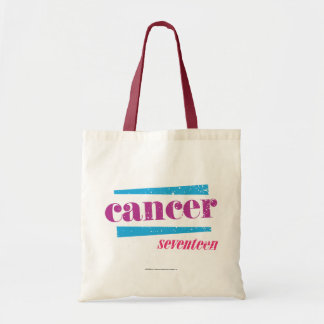 Cancer Purple Budget Tote Bag
