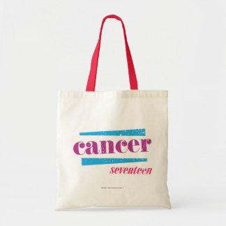 Cancer Purple Budget Tote Bag