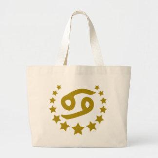 Cancer-Stars-Crown-.png Jumbo Tote Bag