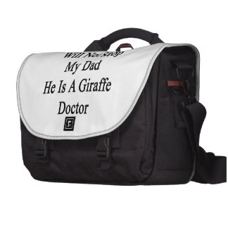 Cancer Will Not Stop My Dad He Is A Giraffe Doctor Laptop Computer Bag