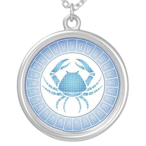 Cancer Zodiac Pendant Necklace
