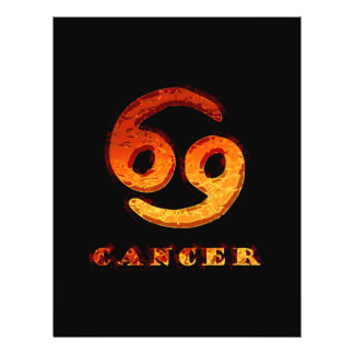 Cancer Zodiac Symbol 21.5 Cm X 28 Cm Flyer