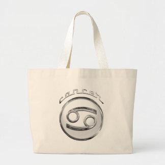 Cancer Zodiac Symbol Jumbo Tote Bag