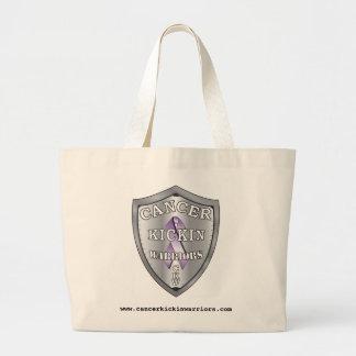 cancerkickinwarriors-logo-LARGE Jumbo Tote Bag