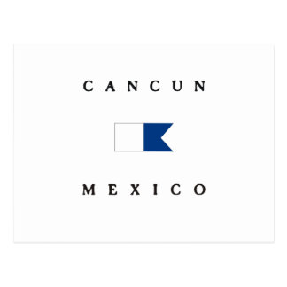 Cancun Mexico Alpha Dive Flag Postcard
