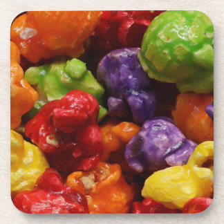 Candied Popcorn Hard Plastic Drink Coaster