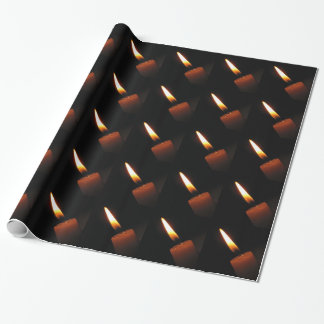 Candle Flame Wrapping Paper