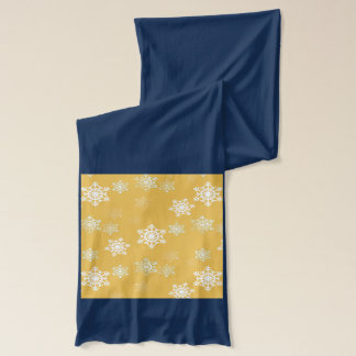 Candle Glow Yellow and White Snow Flurries Scarf