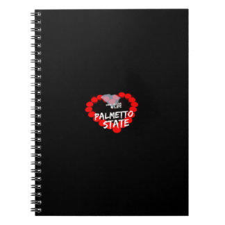 Candle Heart Design For South Carolina State Spiral Notebook