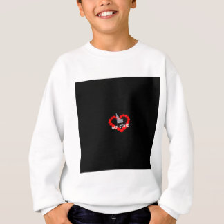 Candle Heart Design For The State of Idaho Sweatshirt
