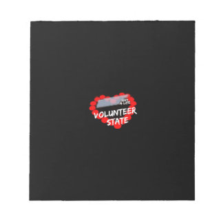 Candle Heart Design For The State of Tennessee Notepad