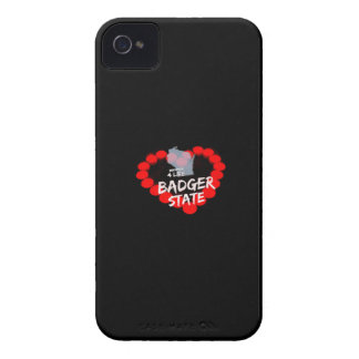 Candle Heart Design For Wisconsin State iPhone 4 Cover