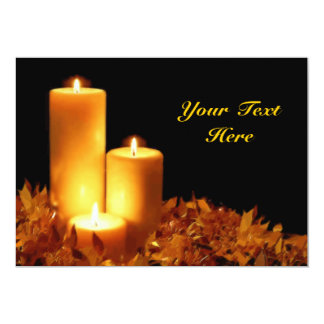Candlelight in Soft Pastels Customizable 13 Cm X 18 Cm Invitation Card