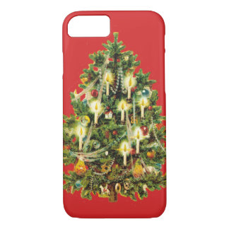 Candlelit Christmas Tree Ornaments Garland iPhone 8/7 Case