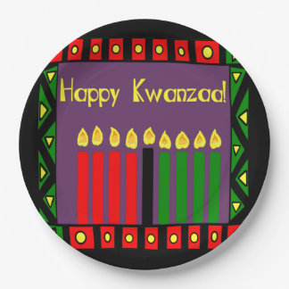 Candles Of Hope Kwanzaa Party Paper Plates
