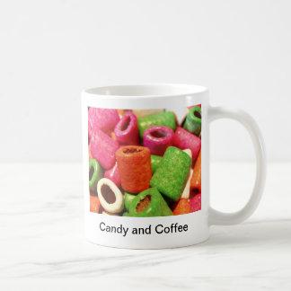 Candy and Coffee Basic White Mug