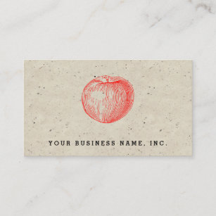 Candy apple business cards zazzle nz candy apple red letterpress apple business card reheart Gallery