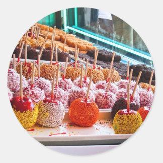 Candy Apples - Coney Island, NYC Classic Round Sticker