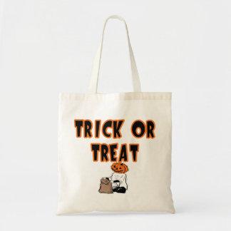 Candy Bag Trick or Treat Pumpkin Head Ghost