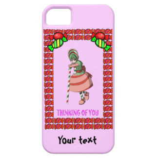 Candy Cane girl with toffees iPhone 5 Case