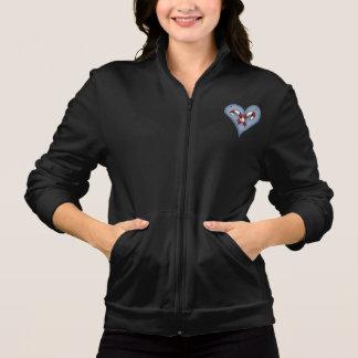 Candy Cane Heart Womens Jacket