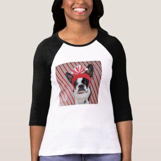 Candy Cane Kisses - Lola B. Boston T-Shirt