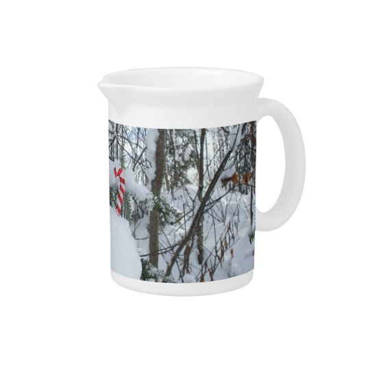 Candy Cane Outdoors Decoration Drink Pitchers