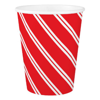 Candy Cane Paper Cup- Winter Wonderland Paper Cup