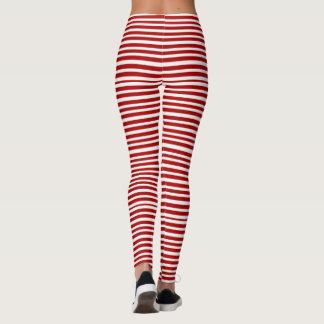candy cane stripe Woman's Leggings, Yoga Leggings