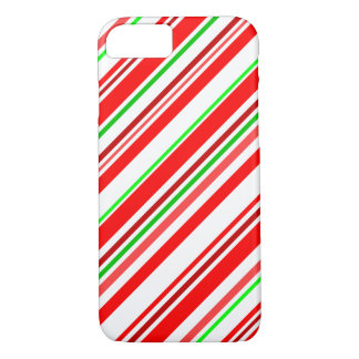 Candy Cane Stripes Christmas Red White Green iPhone 8/7 Case