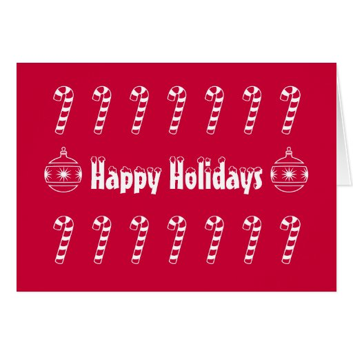 Candy Canes Holiday Card