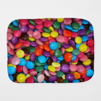 Candy cased choclate buttons Texture Template Burp Cloths