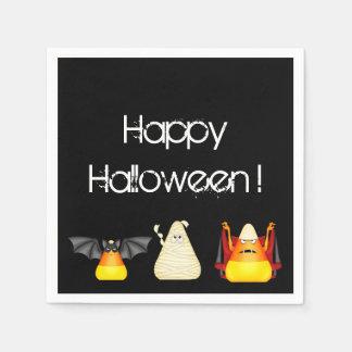 Candy Corn Bat Dracula Mummy Halloween Paper Serviettes