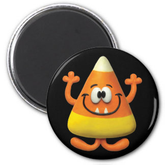 Candy Corn Monster 6 Cm Round Magnet