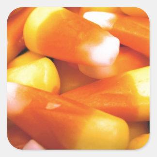 Candy Corn Square Stickers