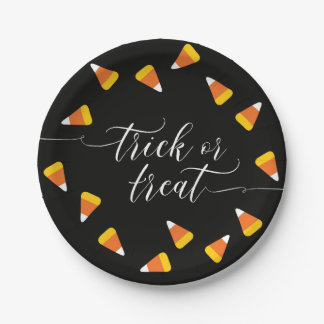 Candy Corn Trick or Treat Paper Plate