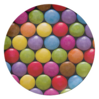 candy dinner plate