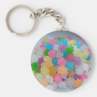 CANDY DREAMS BASIC ROUND BUTTON KEY RING