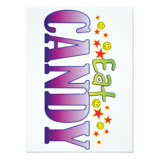 Candy Eat 14 Cm X 19 Cm Invitation Card