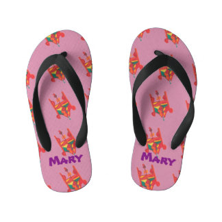 Candy Factory Custom Name Flip Flops Thongs