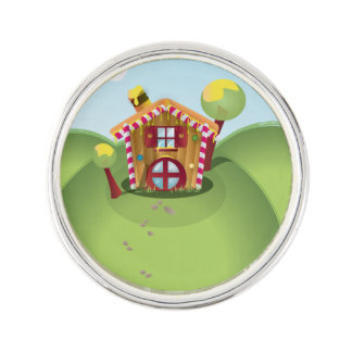 Candy House on the Hill Lapel Pin