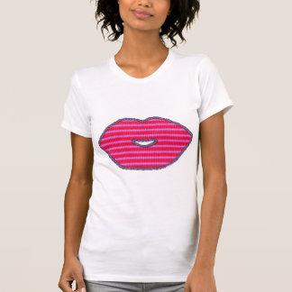 Candy lips kiss kissing lipstick snog love romance T-Shirt