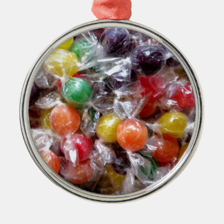 CANDY!!!! Silver-Colored ROUND DECORATION